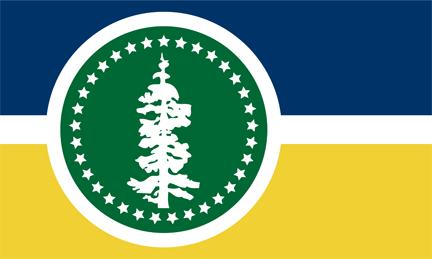 Oregon Flag Front And Back