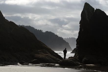 Stranger between the rocks